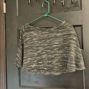 heather gray skater skirt